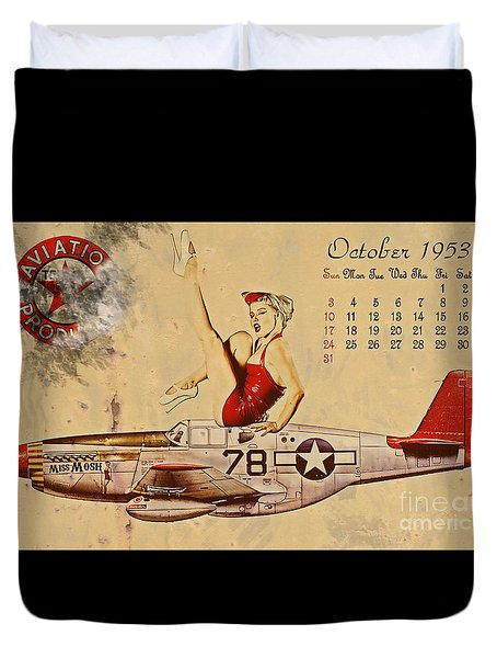 Aviation 1953 Duvet Cover by Cinema Photography