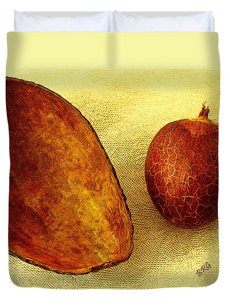 Avocado Seed And Skin II Duvet Cover by Ben and Raisa Gertsberg