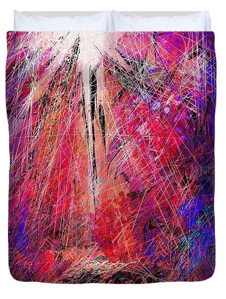 Away in a Manger Duvet Cover by Rachel Christine Nowicki