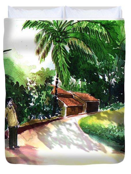 Awe Duvet Cover by Anil Nene