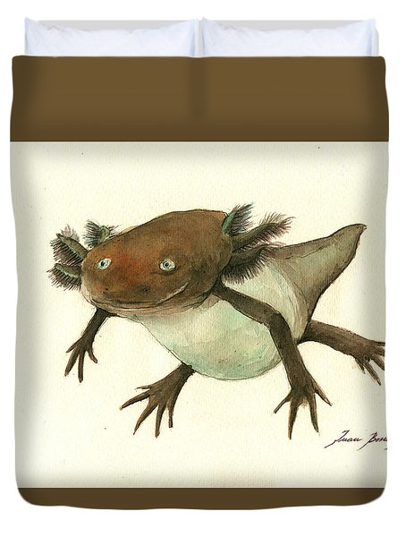 Axolotl Duvet Cover by Juan Bosco