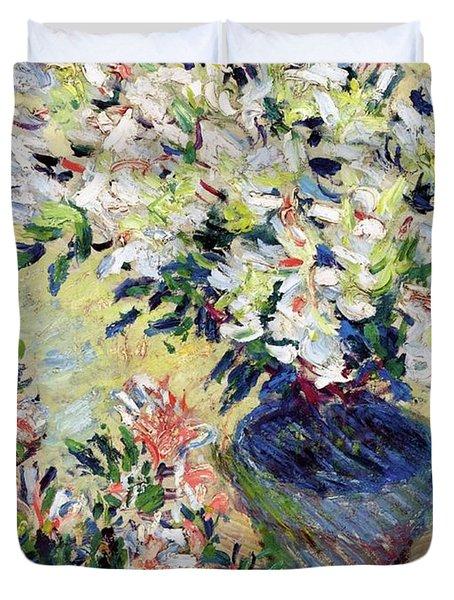 Azaleas Duvet Cover by Claude Monet