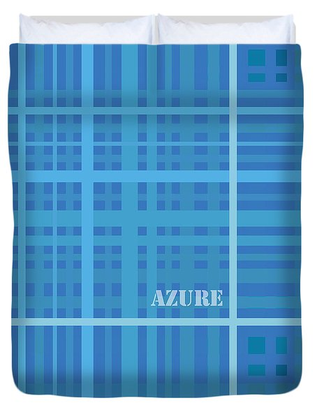 Azure Blue Abstract Duvet Cover by Frank Tschakert