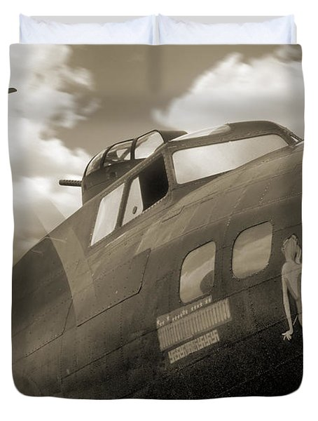 B - 17 Memphis Belle Duvet Cover by Mike McGlothlen