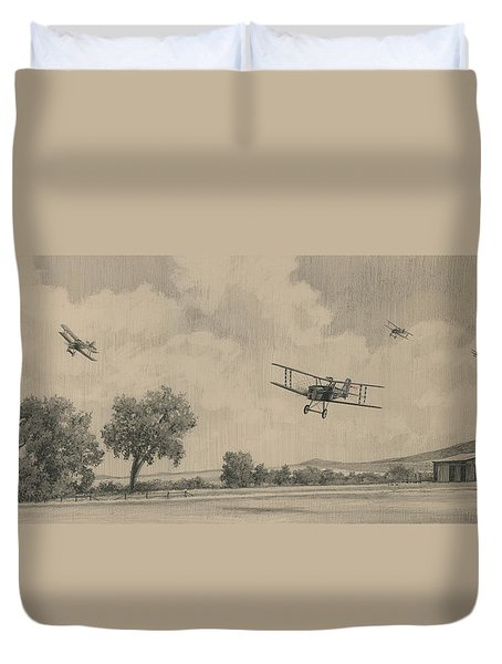 B Flights Back Duvet Cover by Wade Meyers