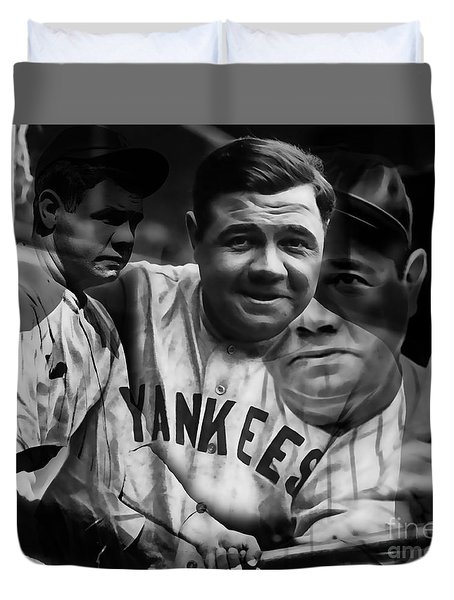 Babe Ruth Collection Duvet Cover by Marvin Blaine