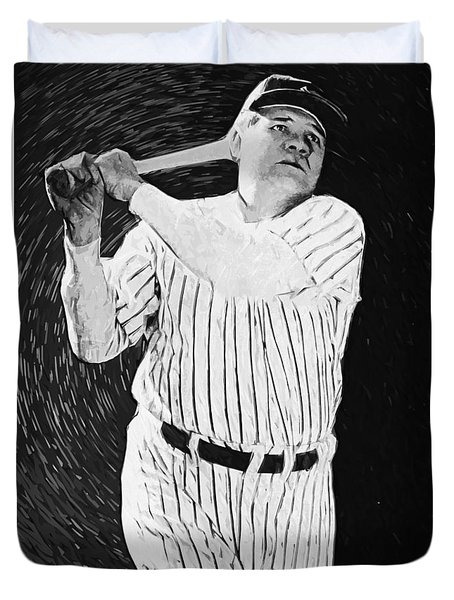 Babe Ruth Duvet Cover by Taylan Soyturk