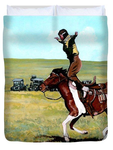 Babette Rides Again Duvet Cover by Tom Roderick