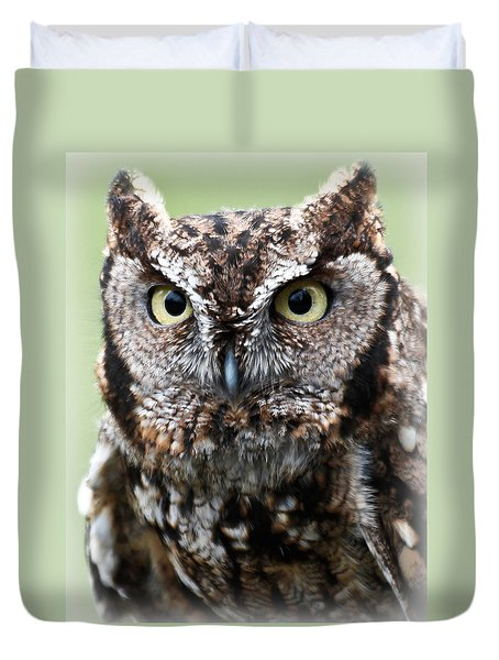 Baby Owl Eyes Duvet Cover by Athena Mckinzie