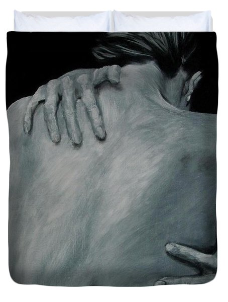 Back Of Naked Woman Duvet Cover by Jindra Noewi