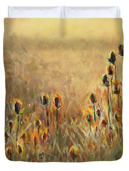 Backlit Thistle Duvet Cover by Frances Marino