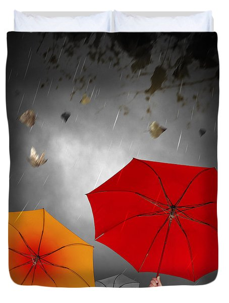 Bad Weather Duvet Cover by Carlos Caetano