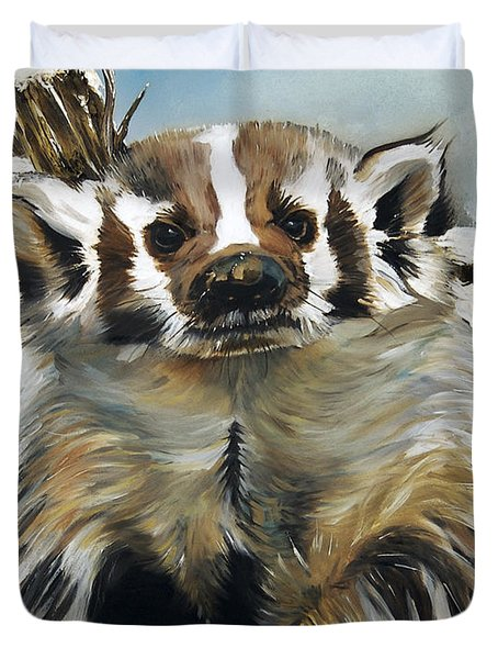 Badger - Guardian Of The South Duvet Cover by J W Baker