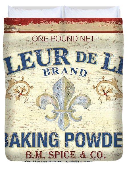 Baking Powder Fleur De Lis Duvet Cover by Debbie DeWitt