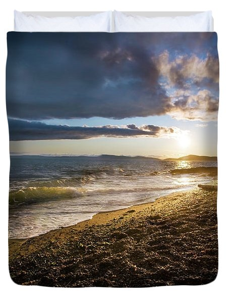 Balanced Evening Duvet Cover by Mike Reid