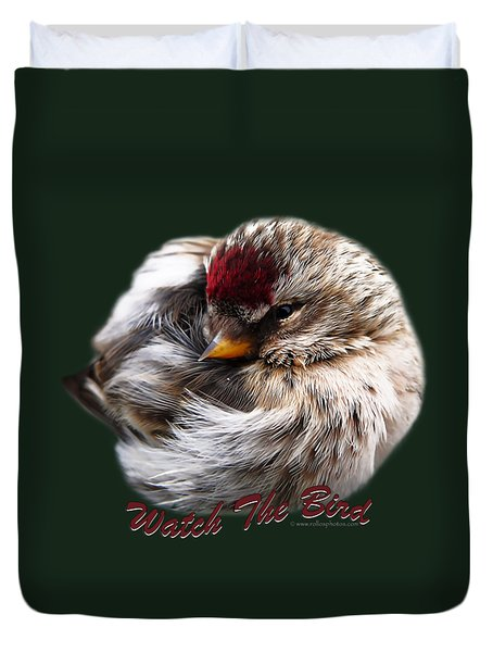 Ball Of Feathers Duvet Cover by Christina Rollo