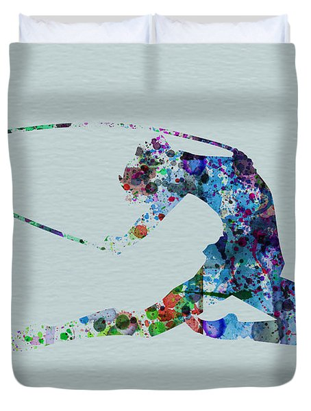 Ballerina On The Stage Duvet Cover by Naxart Studio