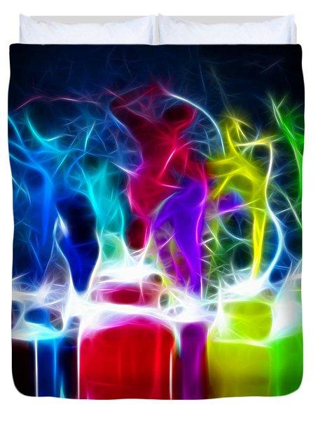 Ballet of Colors Duvet Cover by Pamela Johnson