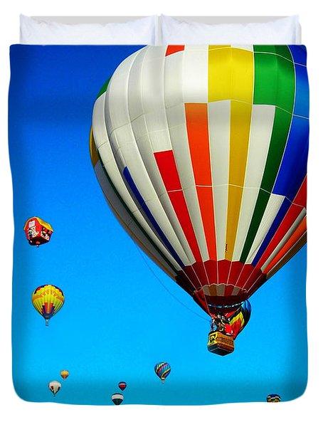 Balloon Festival Duvet Cover by Juergen Weiss