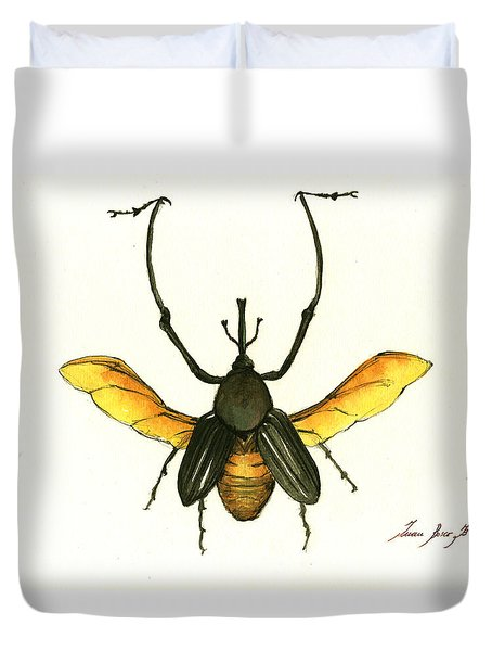 Bamboo Beetle Duvet Cover by Juan Bosco