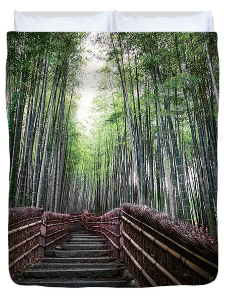 BAMBOO FOREST of JAPAN Duvet Cover by Daniel Hagerman