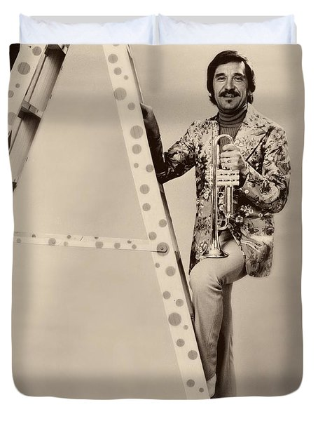 Band Leader Doc Serverinsen 1974 Duvet Cover by Mountain Dreams