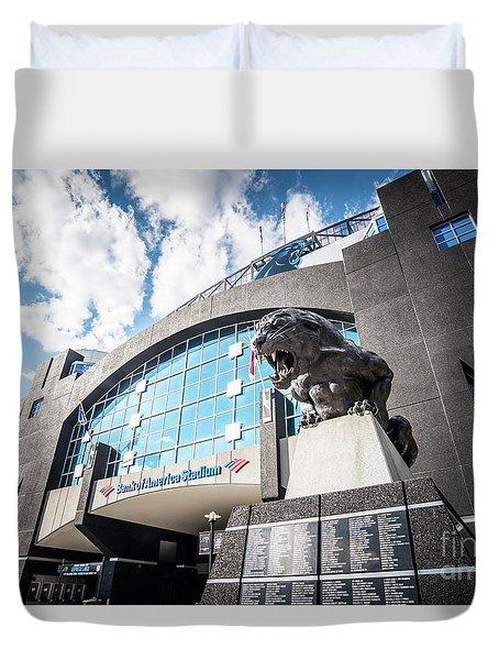 Bank Of America Stadium Carolina Panthers Photo Duvet Cover by Paul Velgos