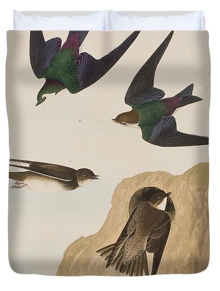 Bank Swallows Duvet Cover by John James Audubon