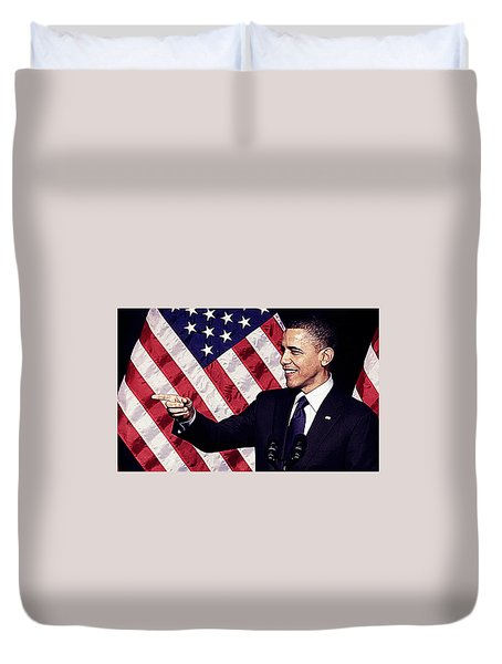 Barack Obama Duvet Cover by Iguanna Espinosa