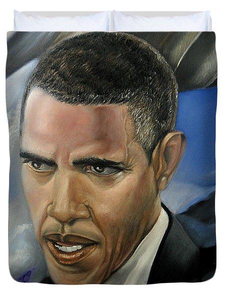 Barack Duvet Cover by Reggie Duffie