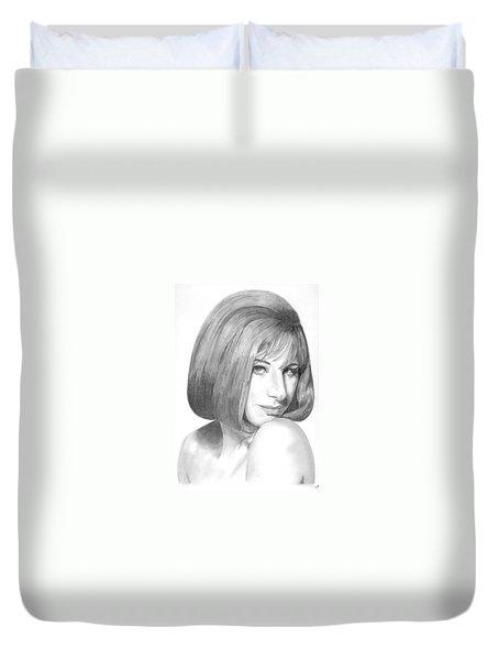 Barbra Streisand Duvet Cover by Rob De Vries