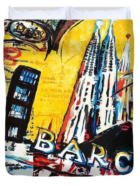 Barcelona Duvet Cover by Gerald Herrmann