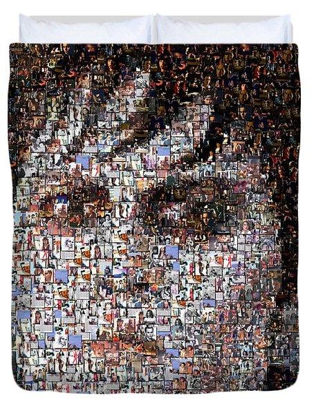 Barnabas Collins Johnny Depp Mosaic Duvet Cover by Paul Van Scott