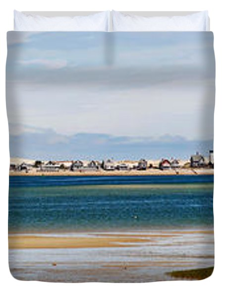 Barnstable Harbor Panorama Duvet Cover by Charles Harden