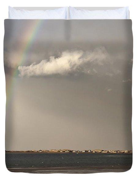 Barnstable Harbor Rainbow Duvet Cover by Charles Harden