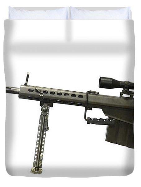 Barrett L82a1 Anti-materiel Rifle Duvet Cover by Andrew Chittock