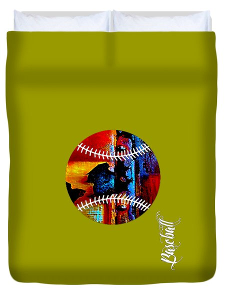 Baseball Collection Duvet Cover by Marvin Blaine