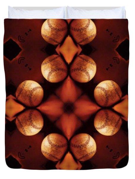Baseball Cross Duvet Cover by Maria Watt