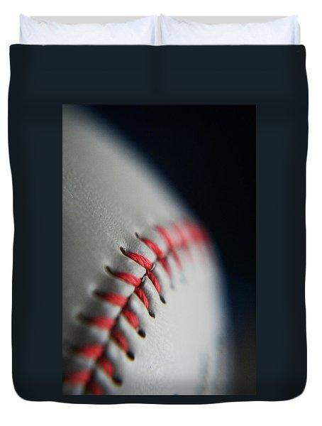 Baseball Fan Duvet Cover by Rachelle Johnston