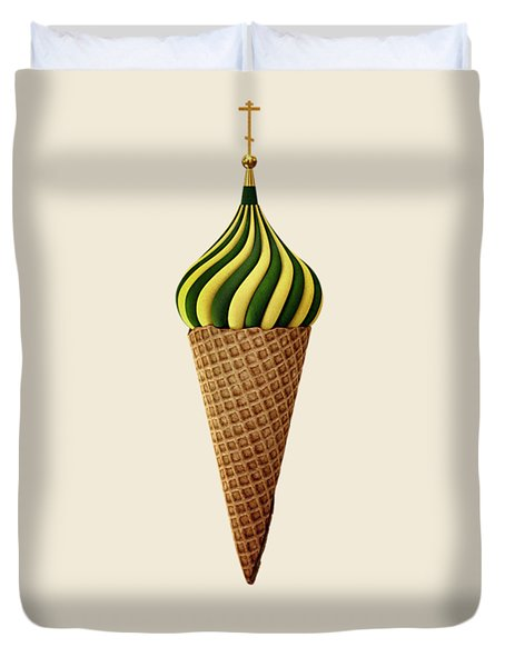 Basil Flavoured Duvet Cover by Nicholas Ely