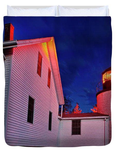 Bass Harbor Lighthouse Maine Duvet Cover by John Greim