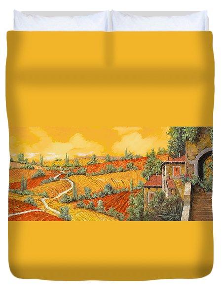 Bassa Toscana Duvet Cover by Guido Borelli