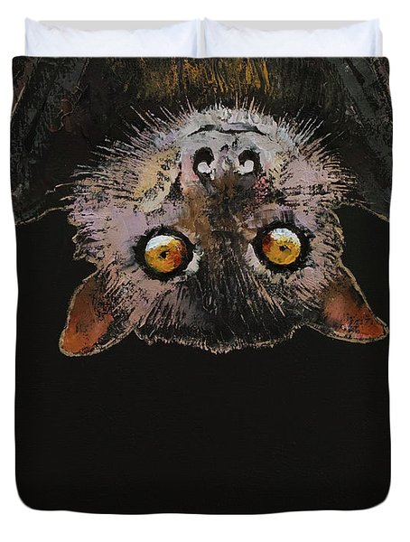 Bat Duvet Cover by Michael Creese