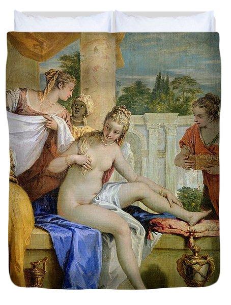 Bathsheba Bathing Duvet Cover by Sebastiano Ricci