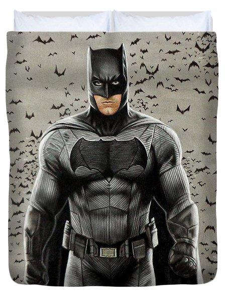 Batman Ben Affleck Duvet Cover by David Dias