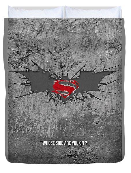 Batman V Superman Duvet Cover by Parikshit Deshmukh