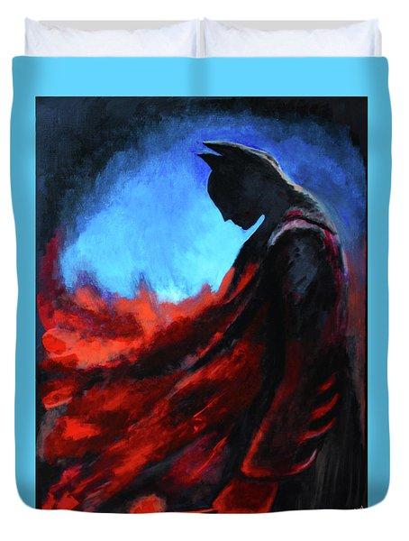 Batman's Mercy Duvet Cover by Brandy Nicole Neal