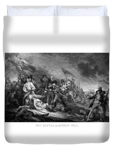 Battle Of Bunker Hill Duvet Cover by War Is Hell Store