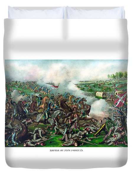 Battle of Five Forks Duvet Cover by War Is Hell Store