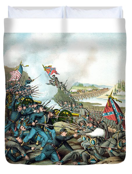 Battle Of Franklin Duvet Cover by War Is Hell Store